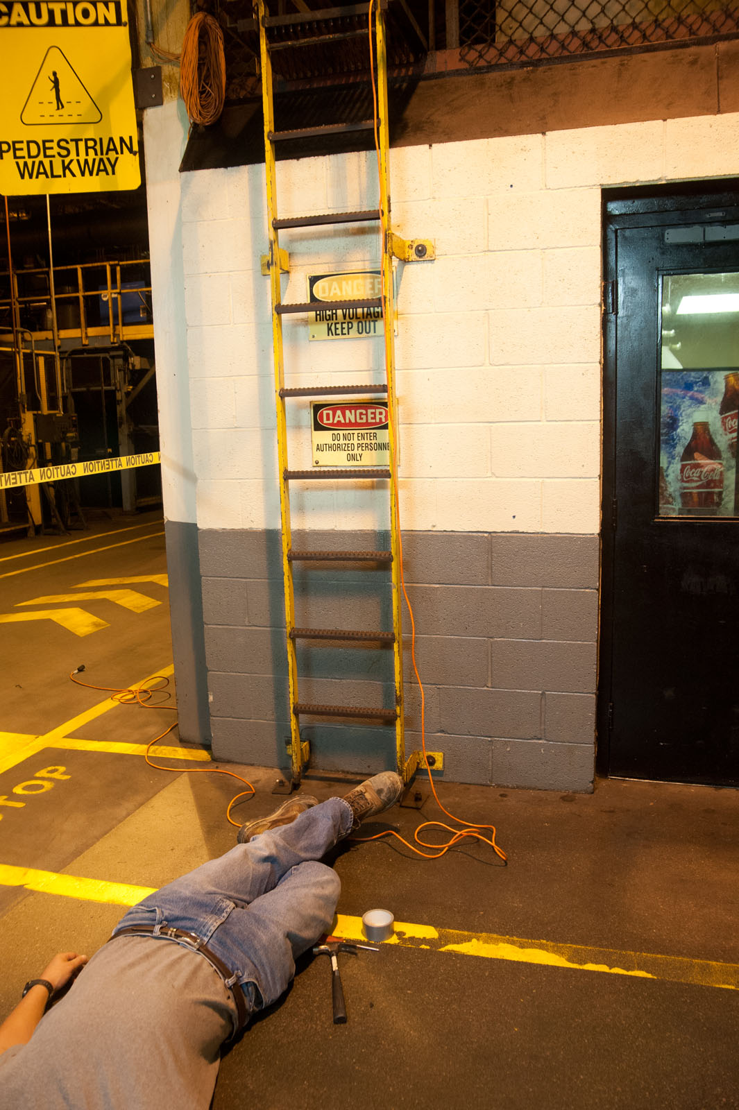 Accident Incidence Investigation. Man fell off a ladder at work.