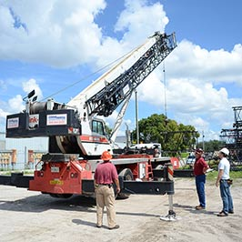 Safe Operation of a Mobile Boom Crane