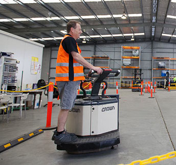 Safe Operation of an Electric Pallet Truck