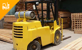 Safe Operation of a Lift Truck Training. Yellow Forklift