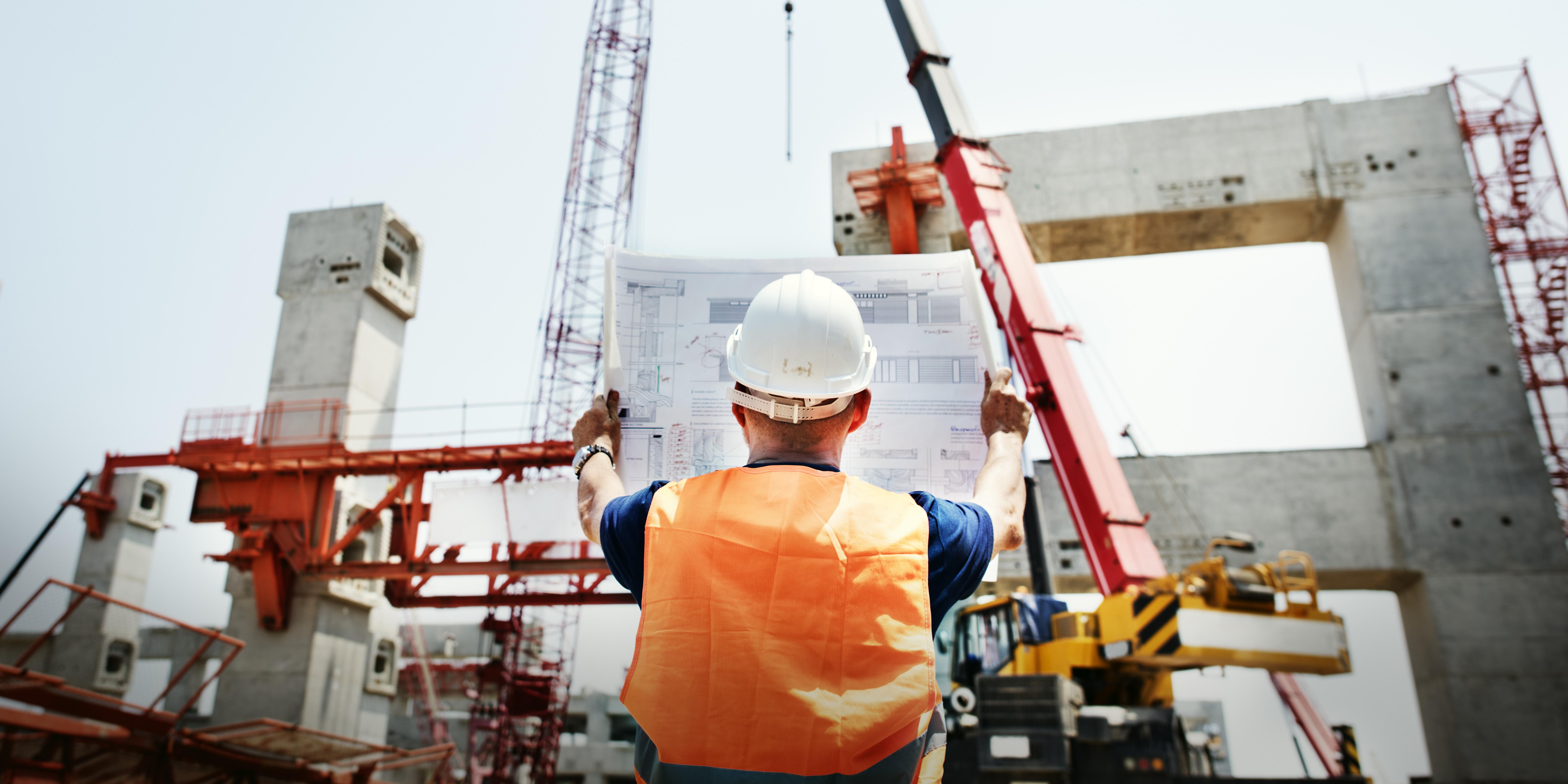 Construction Worker Planning Constractor Developer Concept