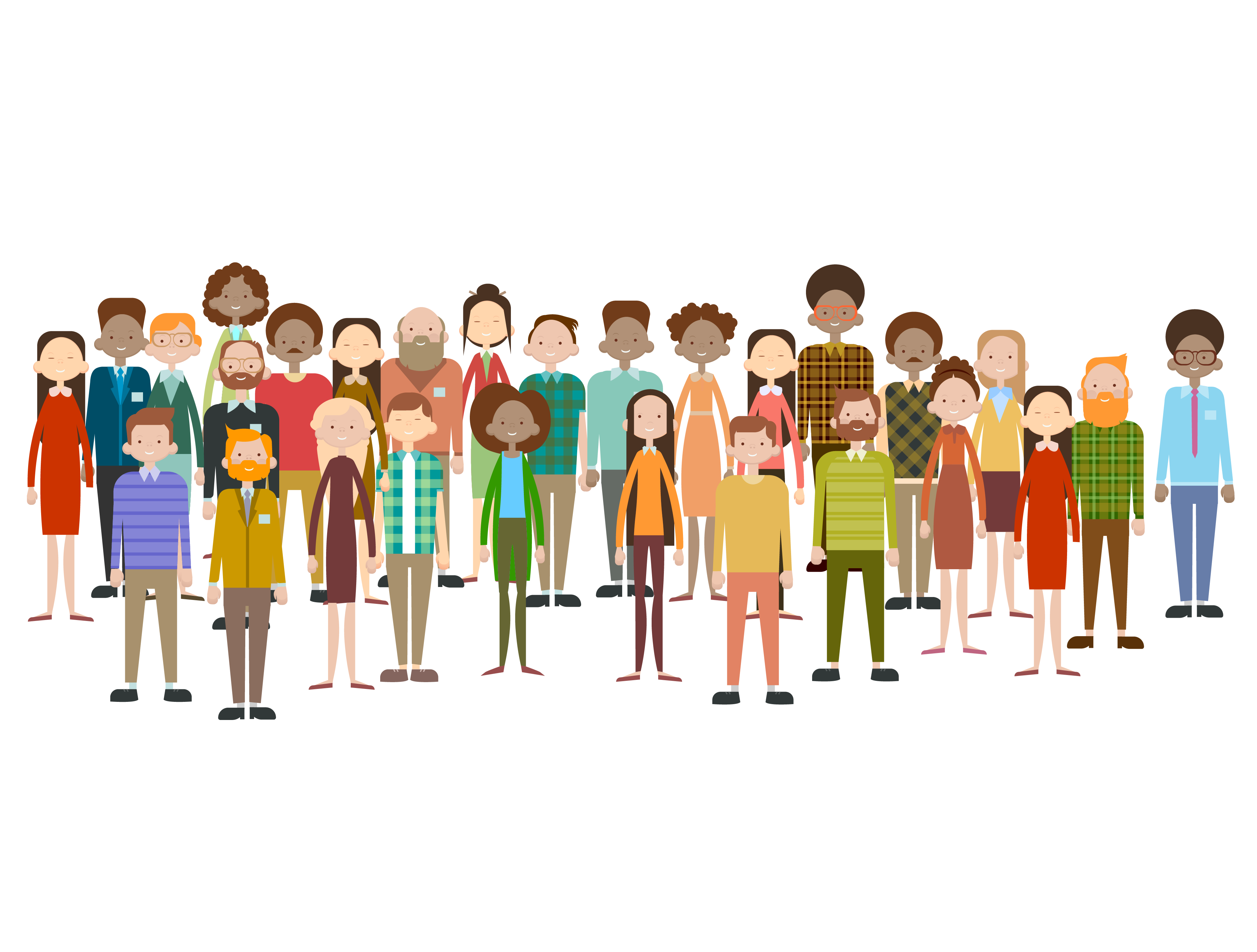 illustration of a large group of diverse people