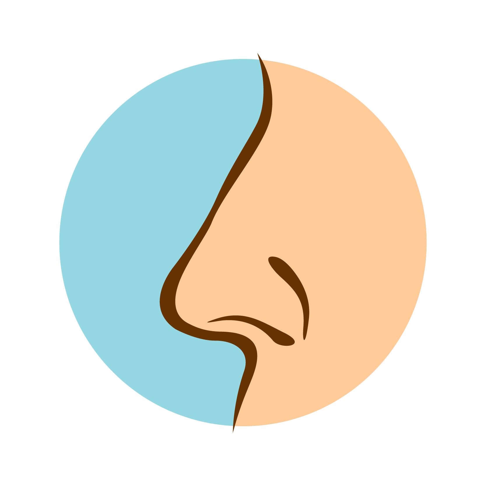 illustration of a nose