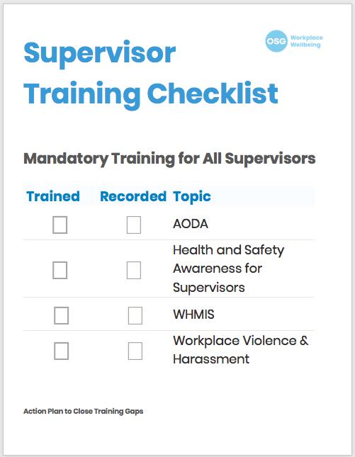 Supervisor Training Checklist Document